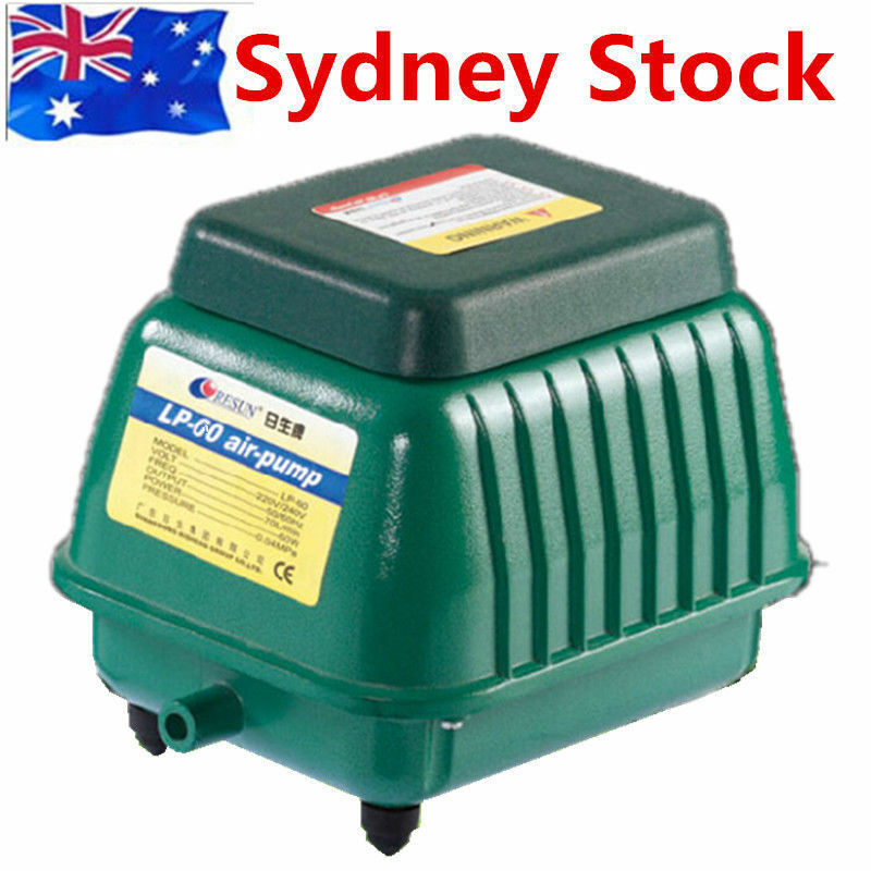 Au stock resun power aquarium air pump pond septic fish for Air pump for fish tank