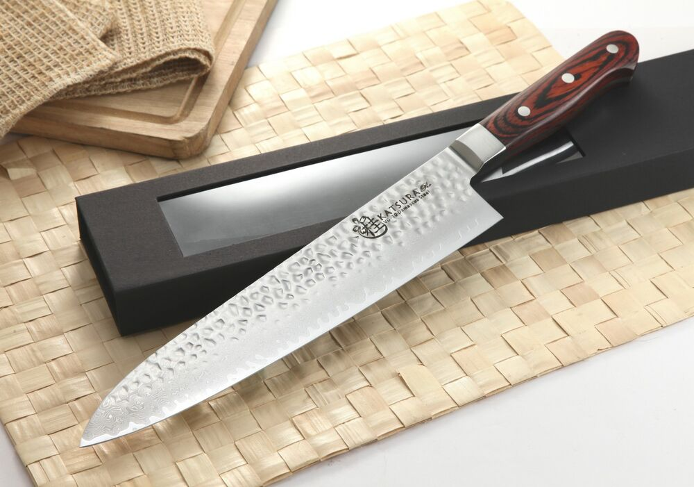katsura japanese vg 10 hammered 67 layers damascus gyuto chef knife shun ebay. Black Bedroom Furniture Sets. Home Design Ideas