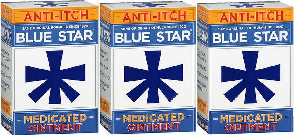 Blue Star Ointment For Ringworm Eczema Itching 2oz 3 Pack Ebay