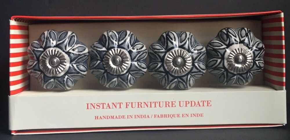 Instant Furniture Update Set Of 4 Drawer Pulls Hand Made In India Ebay