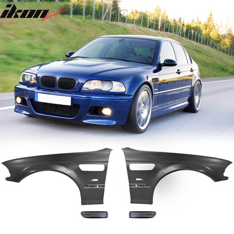 Fit For 98-01 E46 3 Series 4Dr M3 Style Metal Fenders