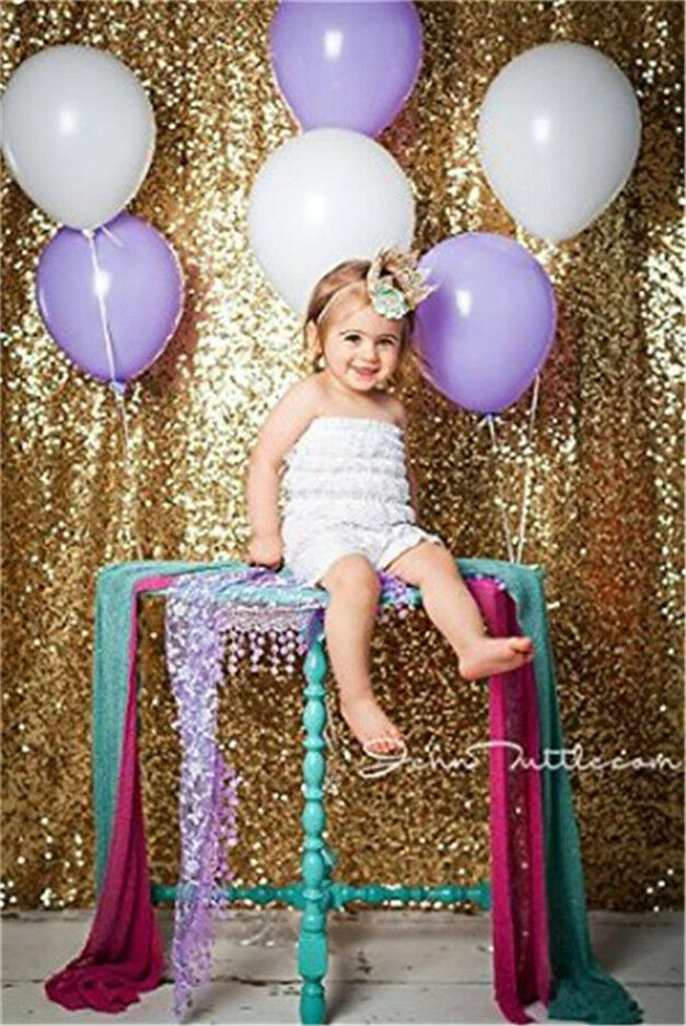 4ft 6ft Sparkly Shimmer Gold Sequin Backdrop Sequin Fabric Photography ...