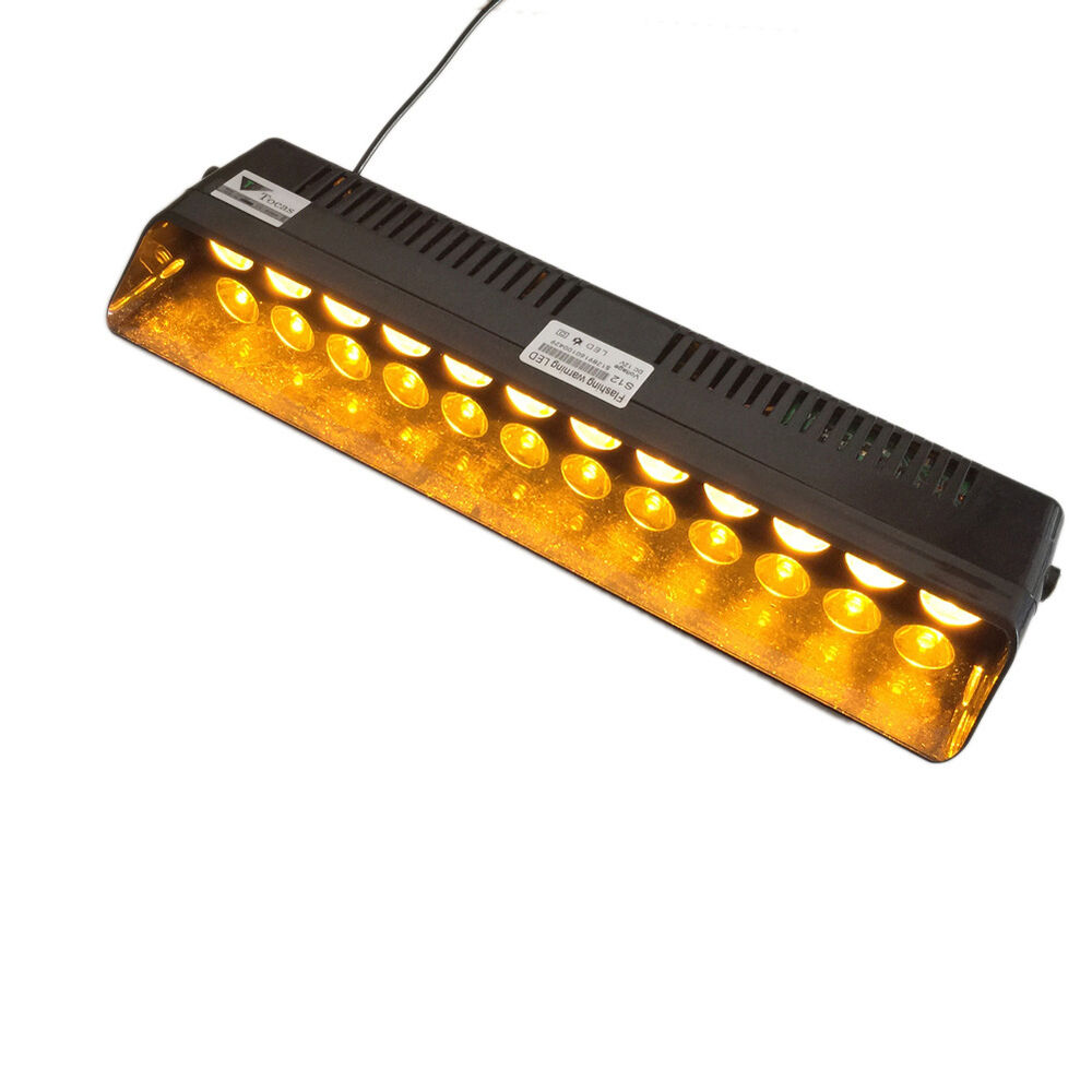traffic advisor vehicle strobe led flash light bar amber ebay. Black Bedroom Furniture Sets. Home Design Ideas