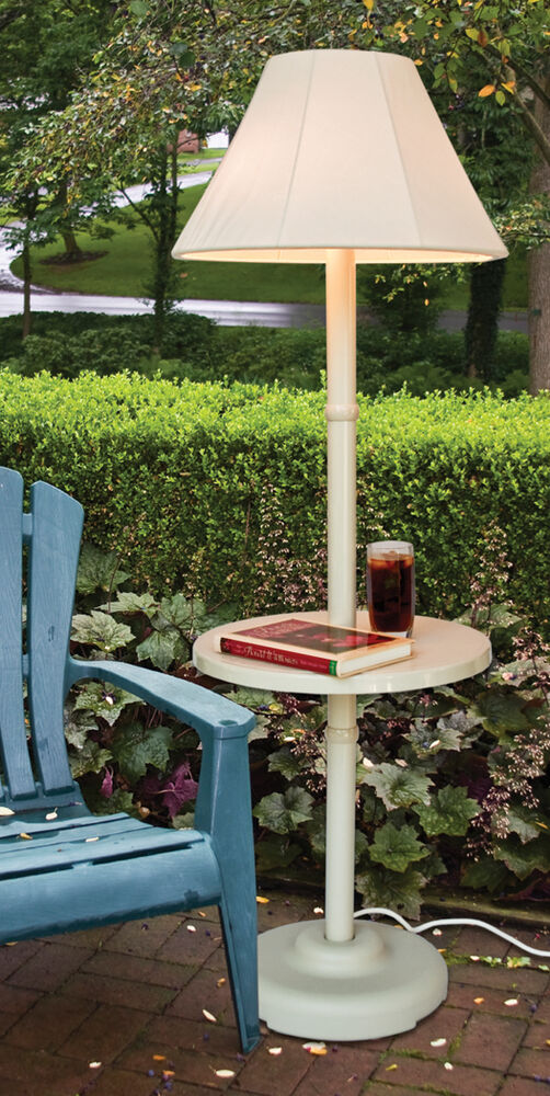 Outdoor patio lamp light with table lampshade deck for Patio lamps outdoor lighting