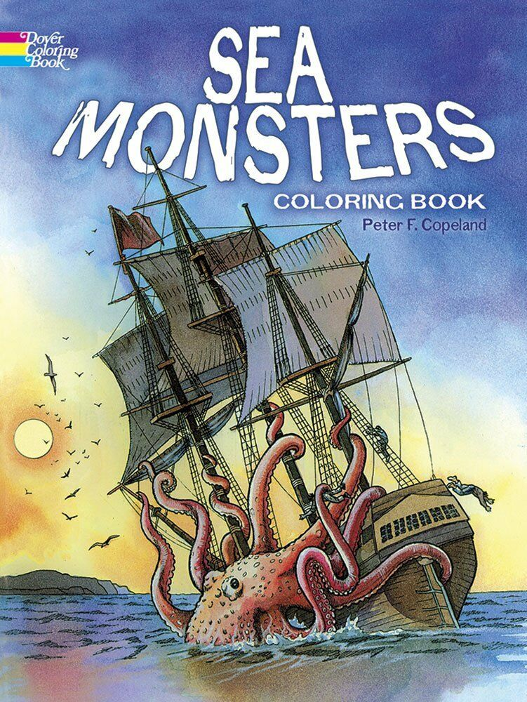 Coloring Books For Adult Sea Monsters Pattern Painting Art
