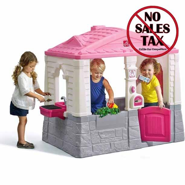 Walmart Outdoor Toys : Kids plastic playhouse cottage pink children indoor