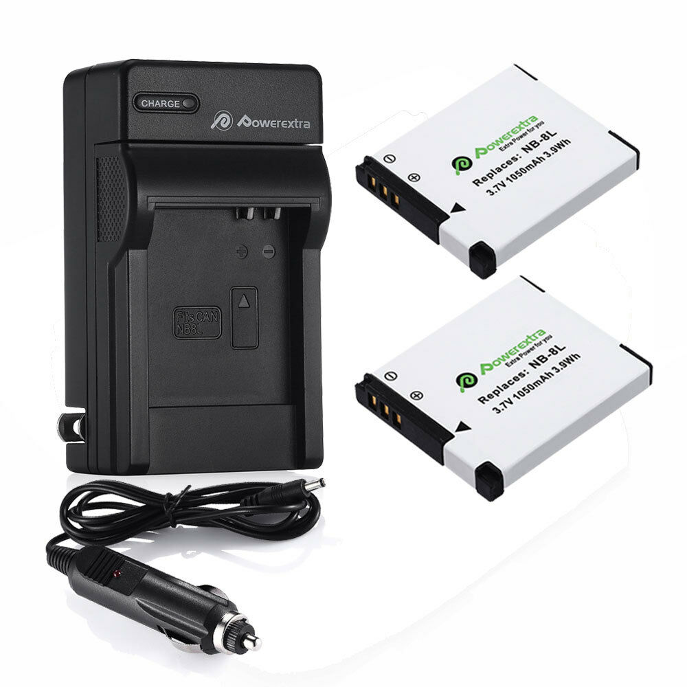2x Nb 8l Battery Charger For Canon Powershot A3300 A3200