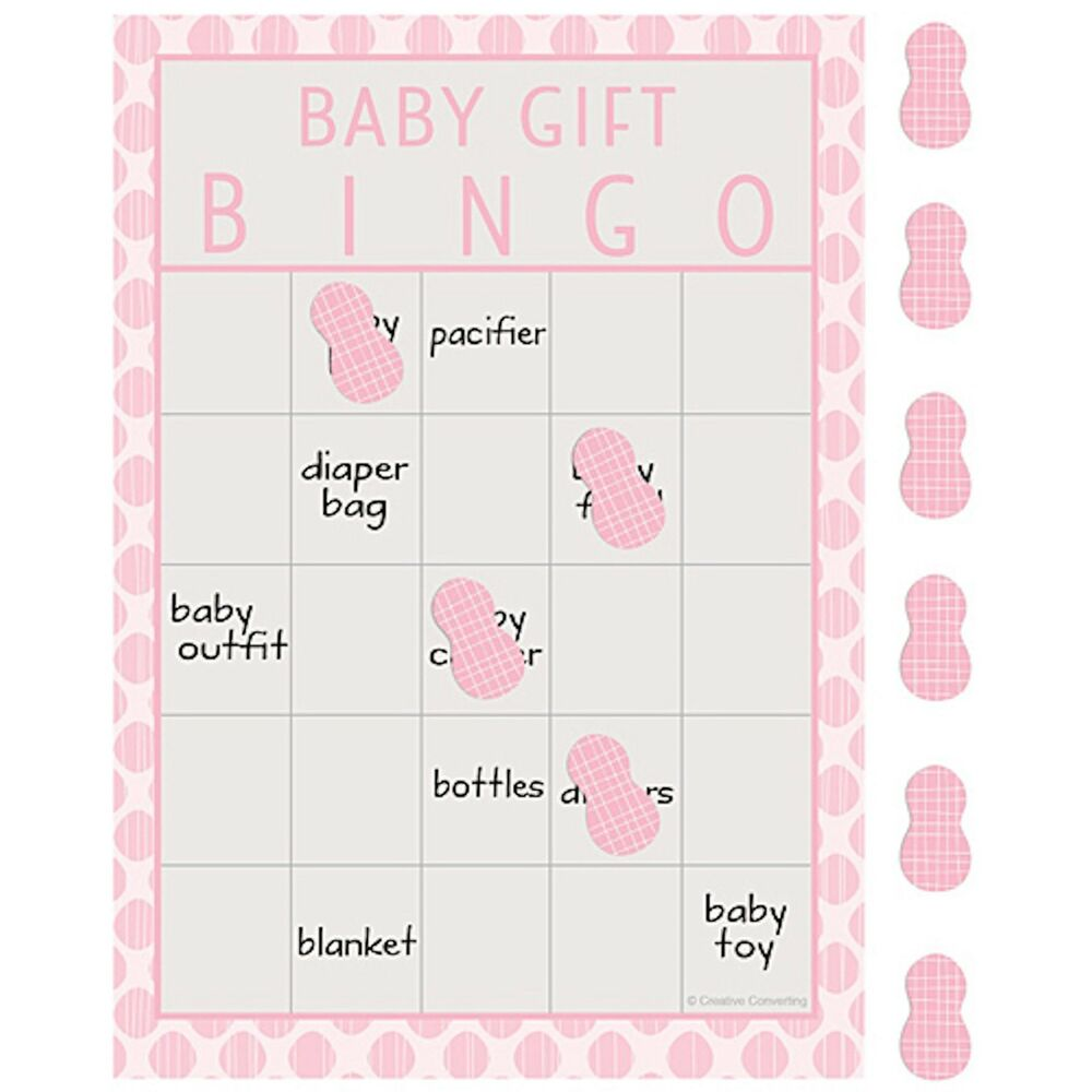 peanut baby girl baby shower bingo game new 10 count game cards ebay