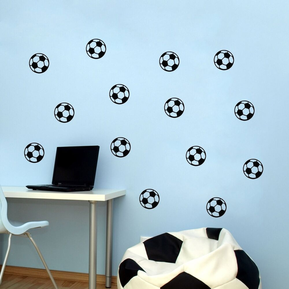 Football Wall Sticker Sport Soccer Decals Boys Kids Room