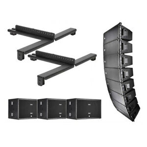 8x RCF HDL 20-A Active Line Array 1400W + 3-SUB 8006-AS Dual 18