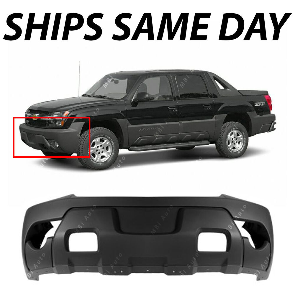 textured charcoal front bumper cover for 2003 2006 chevy avalanche w cladding ebay. Black Bedroom Furniture Sets. Home Design Ideas