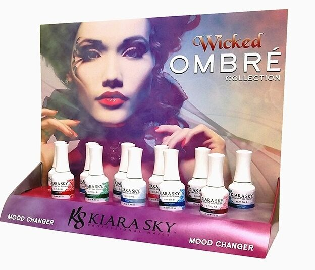 KIARA SKY Mood Changing Gel Polish Ombre *WICKED* Collection - 11 ...