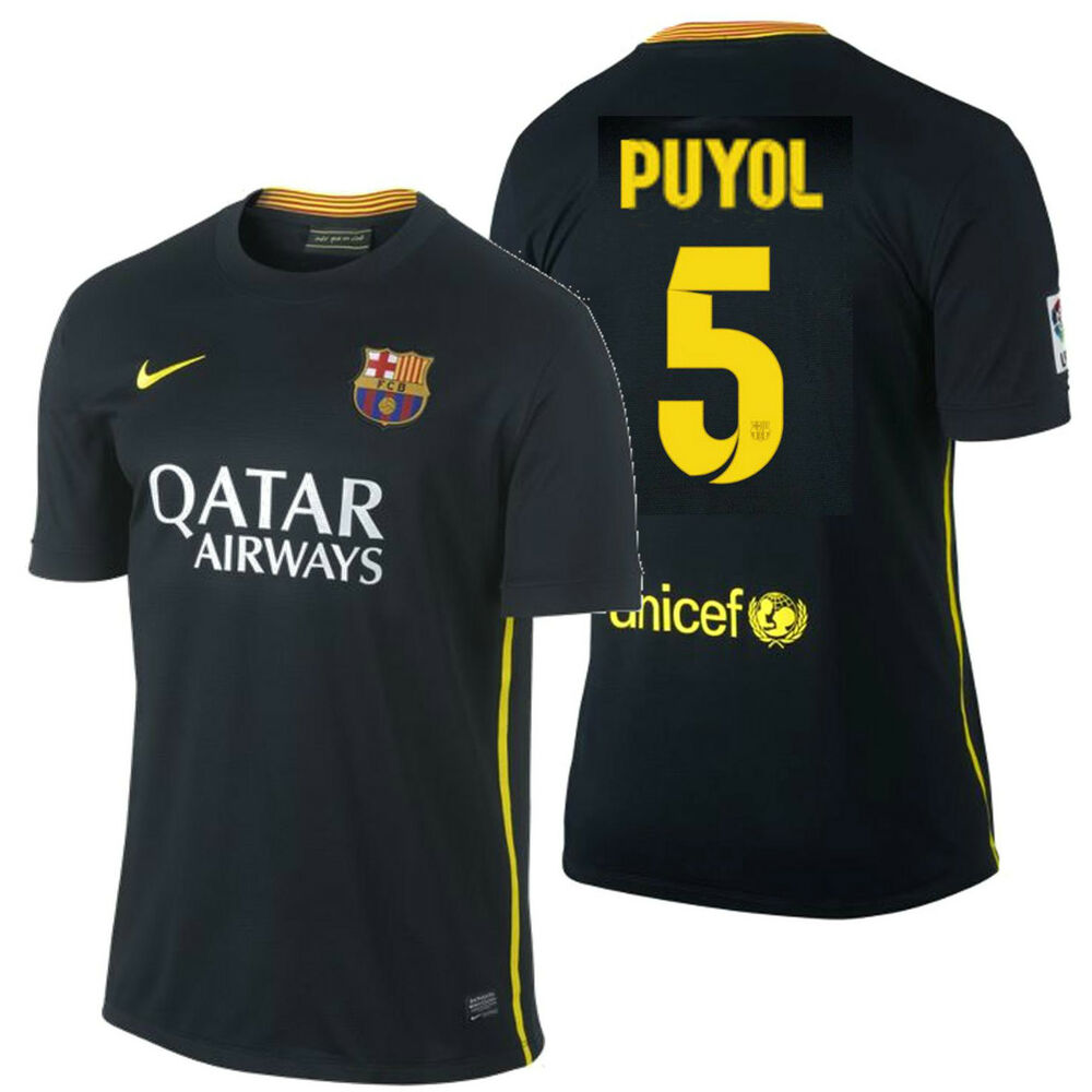 8b087536b779 Details about NIKE FC BARCELONA CARLES PUYOL THIRD JERSEY 2013 14.
