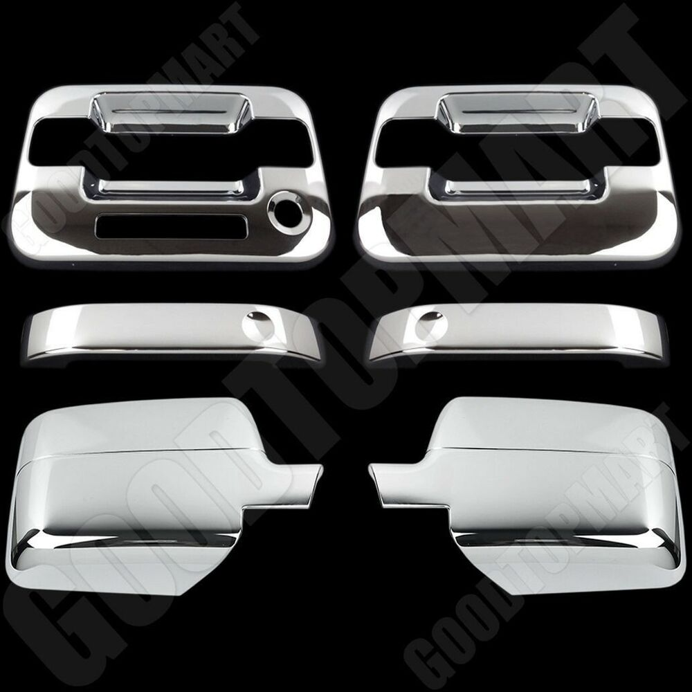 Chrome Covers Set Mirror 2 Door Handles W Keypad For Ford