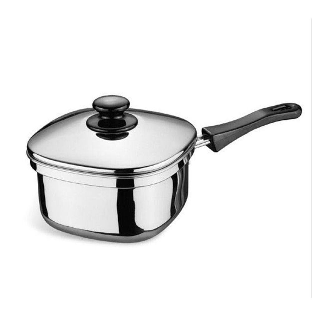 square ramyun cooking pot 7 in square stainless steel cooking sauce pan 180mm ebay. Black Bedroom Furniture Sets. Home Design Ideas