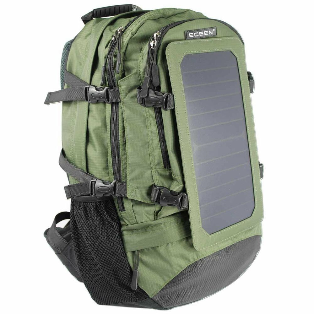 7watt Solar Charger Backpack With 10 000 Mah Battery Pack