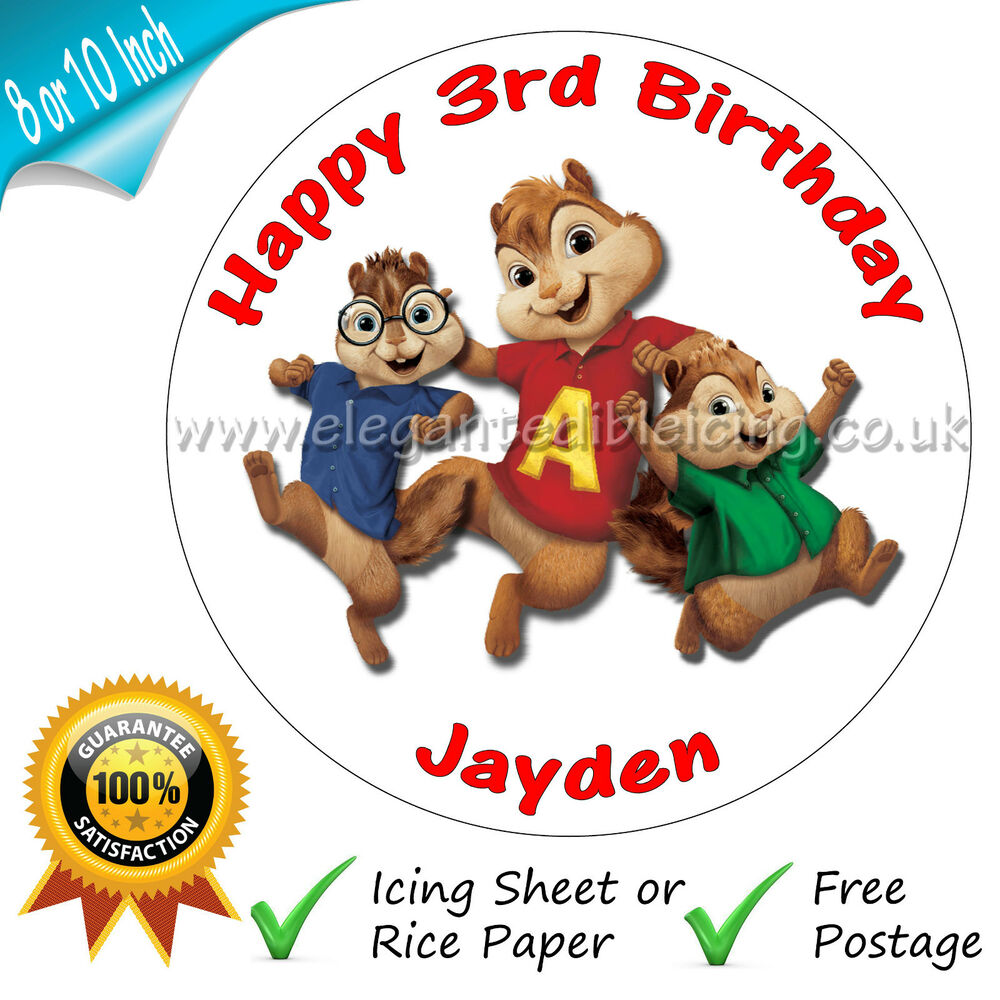 Alvin And Chipmunks Birthday Cake Topper Uk