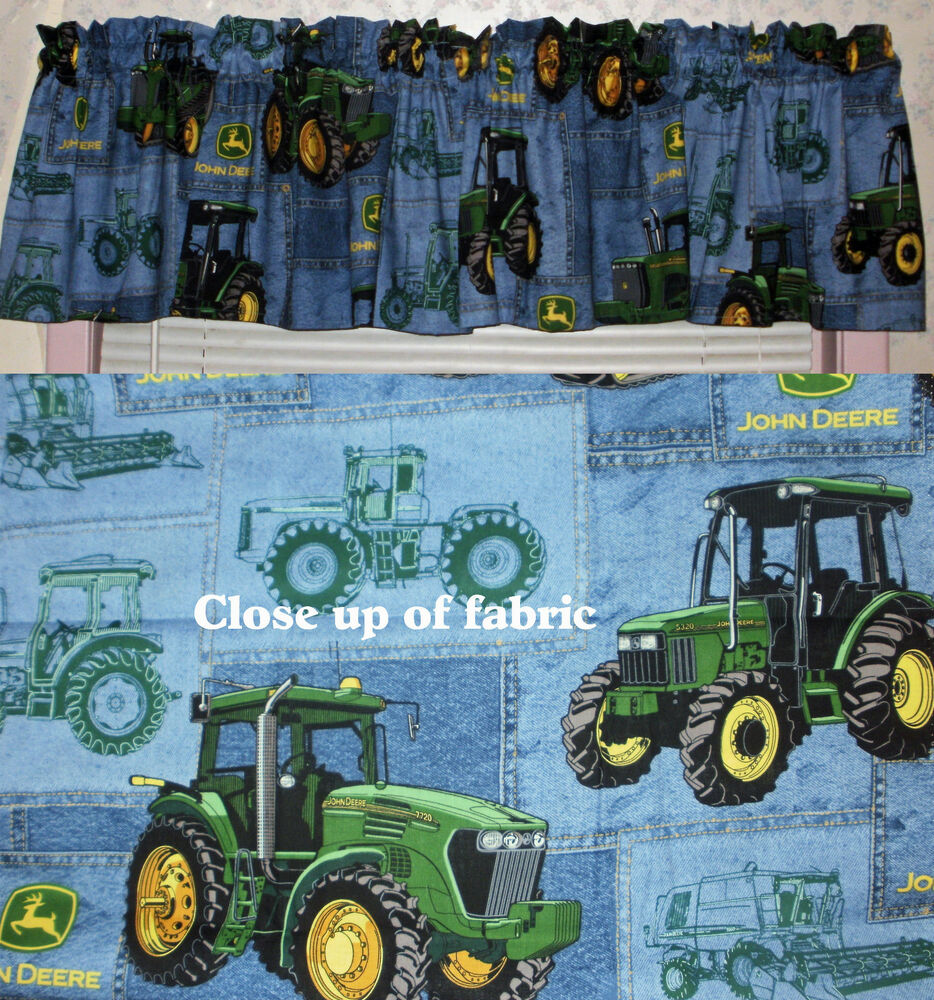 New John Deere Deer Tractor Valances Valance Boys Nursery