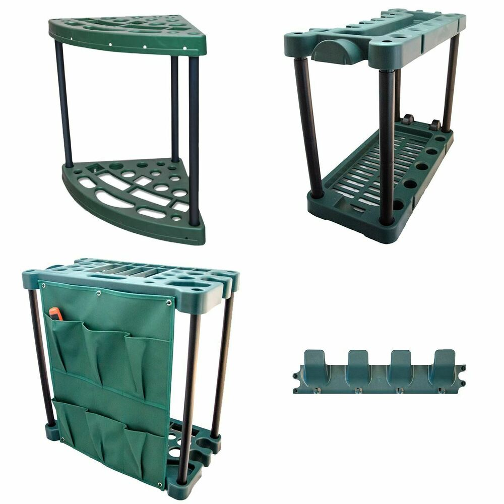 Garden tool trolley rack organiser gardening storage for Tools for backyard gardening