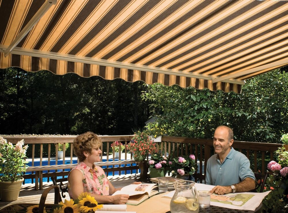 12' SunSetter Motorized Retractable Awning in Acrylic ...