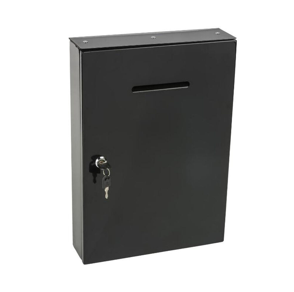 Saw Wall Mount Box : Metal box mail secure collection ticket wall