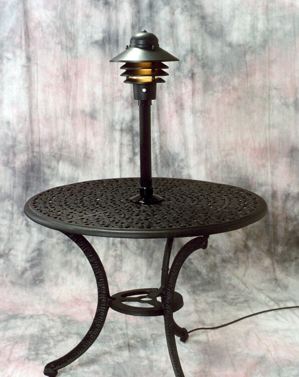 Table Top Lamp Light Outdoor Patio Deck Electric