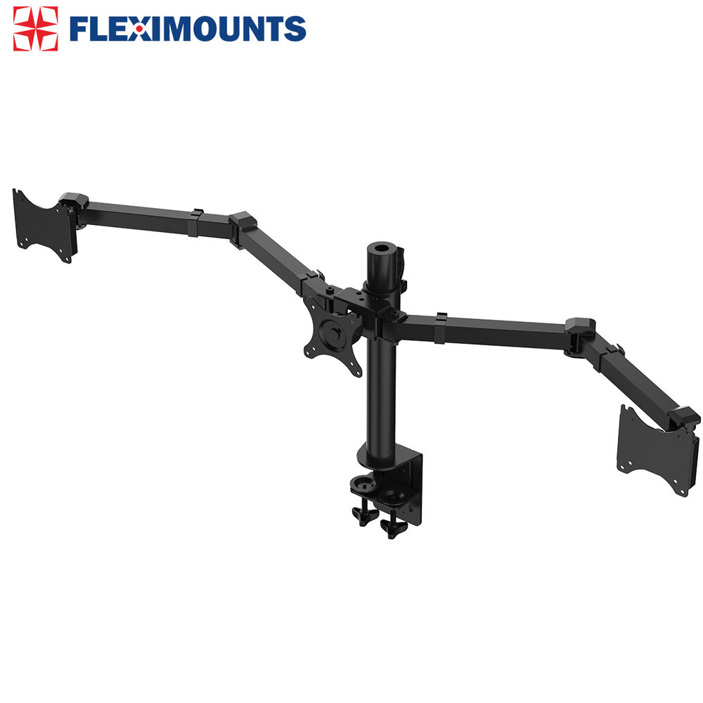 Triple Monitor Arms Full Motion Desk Mount Stand For 3 Lcd