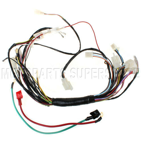 wiring harness 50cc chinese quad ebay new main wiring harness 110cc 125cc taotao atvs quads four ...