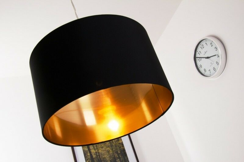 h ngeleuchte pendellampe leuchte h ngelampe lampe pendelleuchte schwarz gold ebay. Black Bedroom Furniture Sets. Home Design Ideas