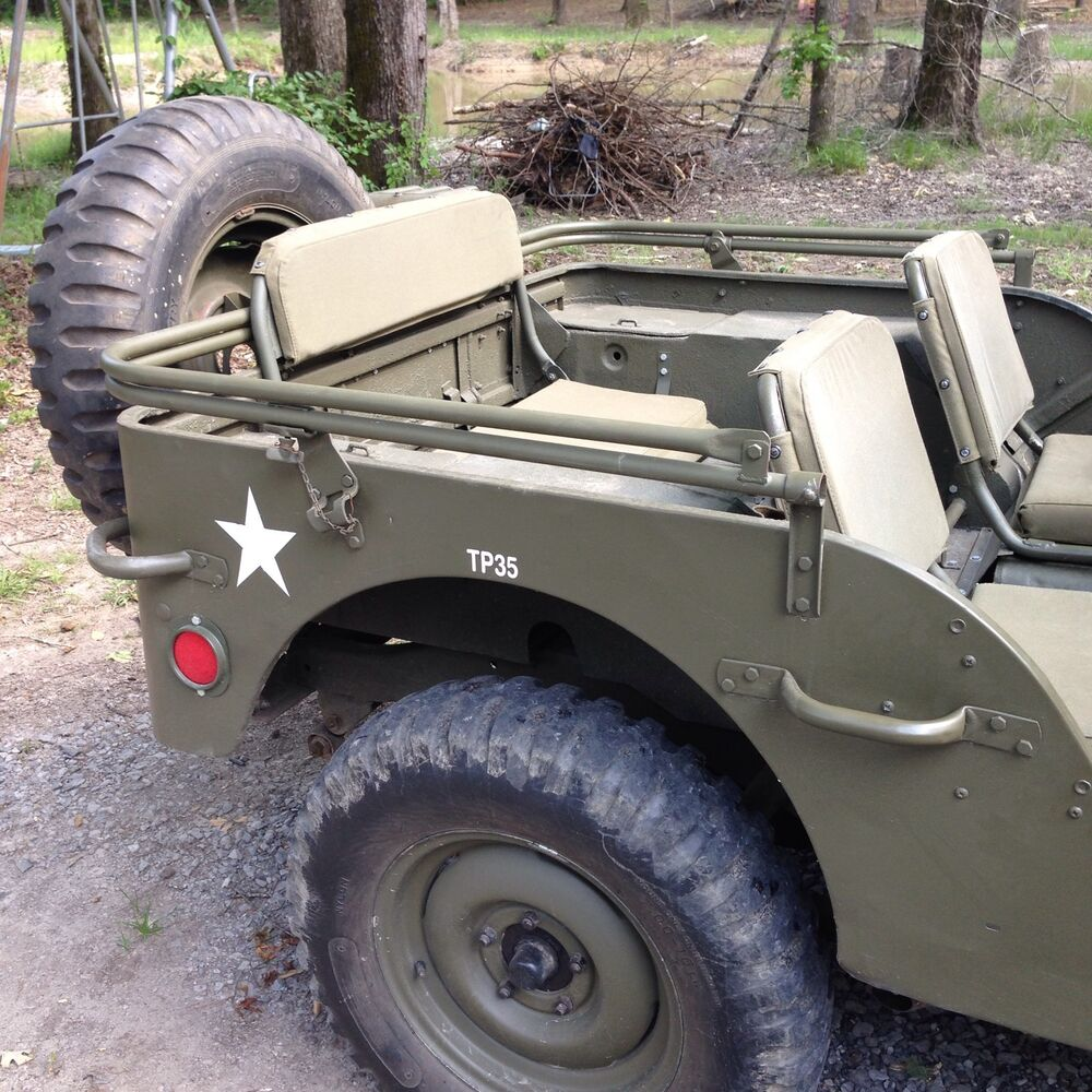 wwii willys mb ford gpw military army jeep top bow assembly ebay. Black Bedroom Furniture Sets. Home Design Ideas
