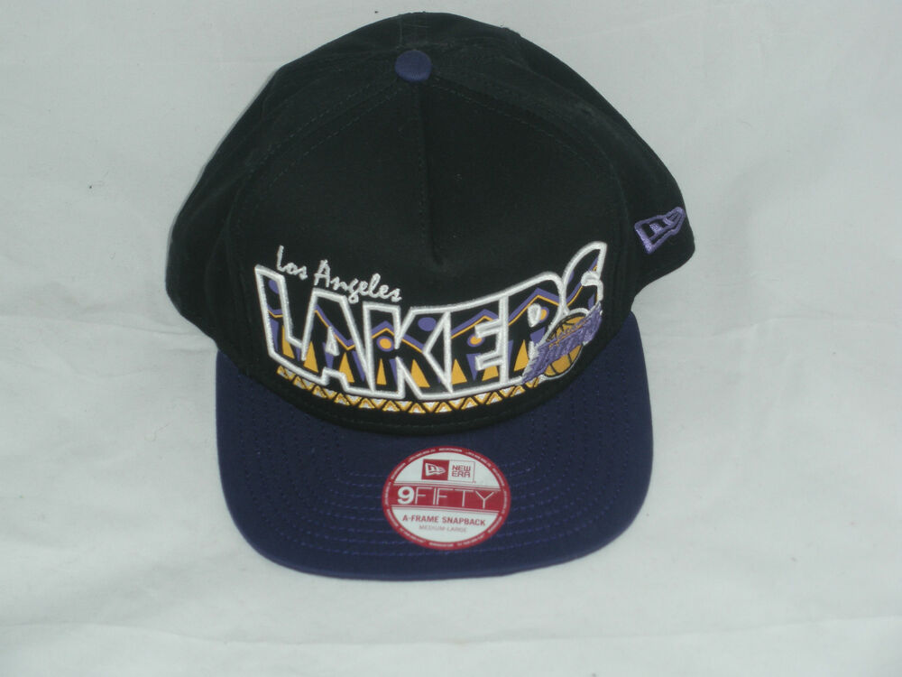 afb7520f0ab Details about New Los Angeles Lakers NBA New Era 9 Fifty Black Purple Snapback  Hat Lid Cap