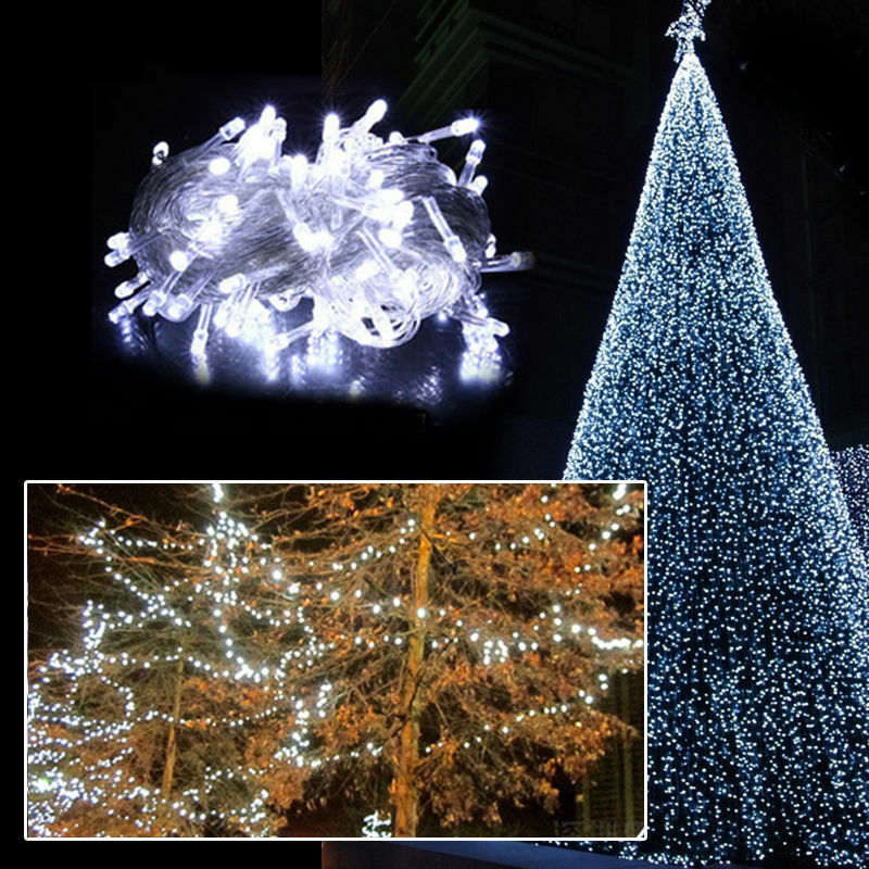 String Lights In Trees: 10M 100 LED Christmas White Wedding Party Decor Outdoor