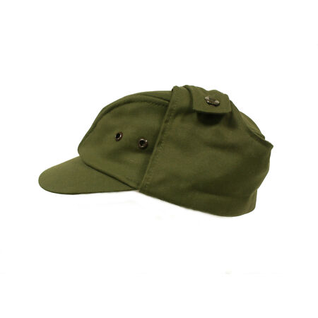 img-Czech / Slovak Army Green M85 Peaked hat / cap with ear flaps - Unissued