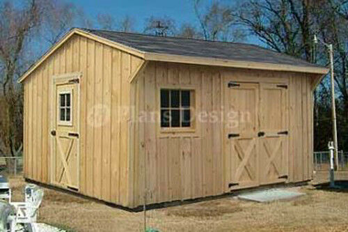 12 39 x 14 39 garden storage saltbox style shed plans design for Saltbox garden shed plans