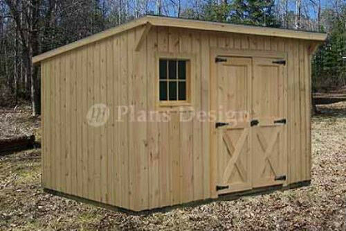 7' x 12' Modern Storage / Lean-To Garden Shed Plans, Design #80712 753182758626 | eBay