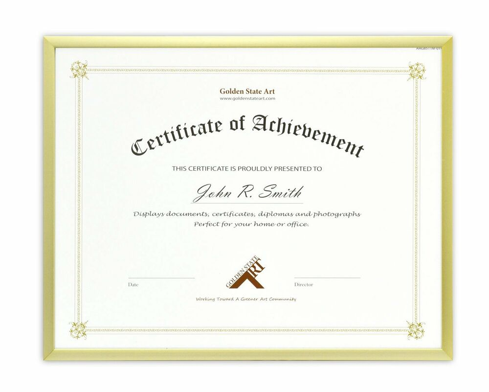 Document Diploma Certificate 8 5x11 Aluminum Gold Photo