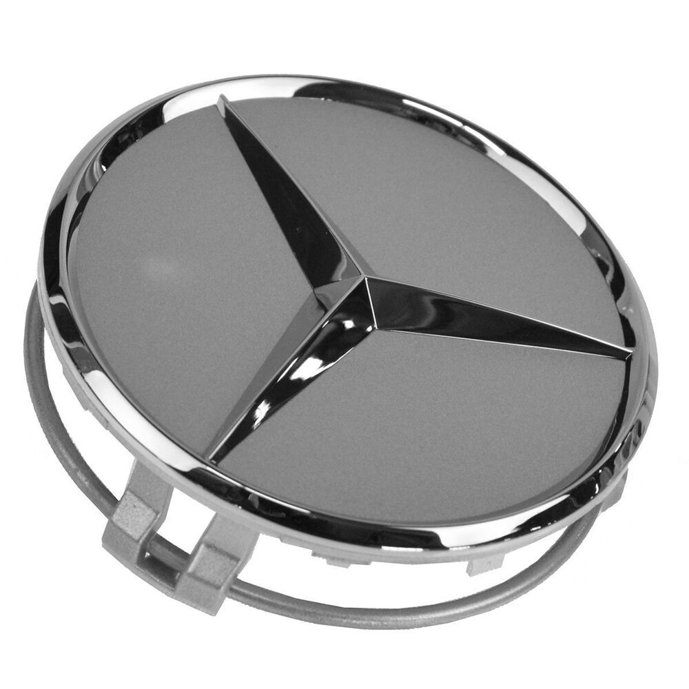 New mercedes benz 1pc 75mm silver chrome star wheel for Mercedes benz wheel