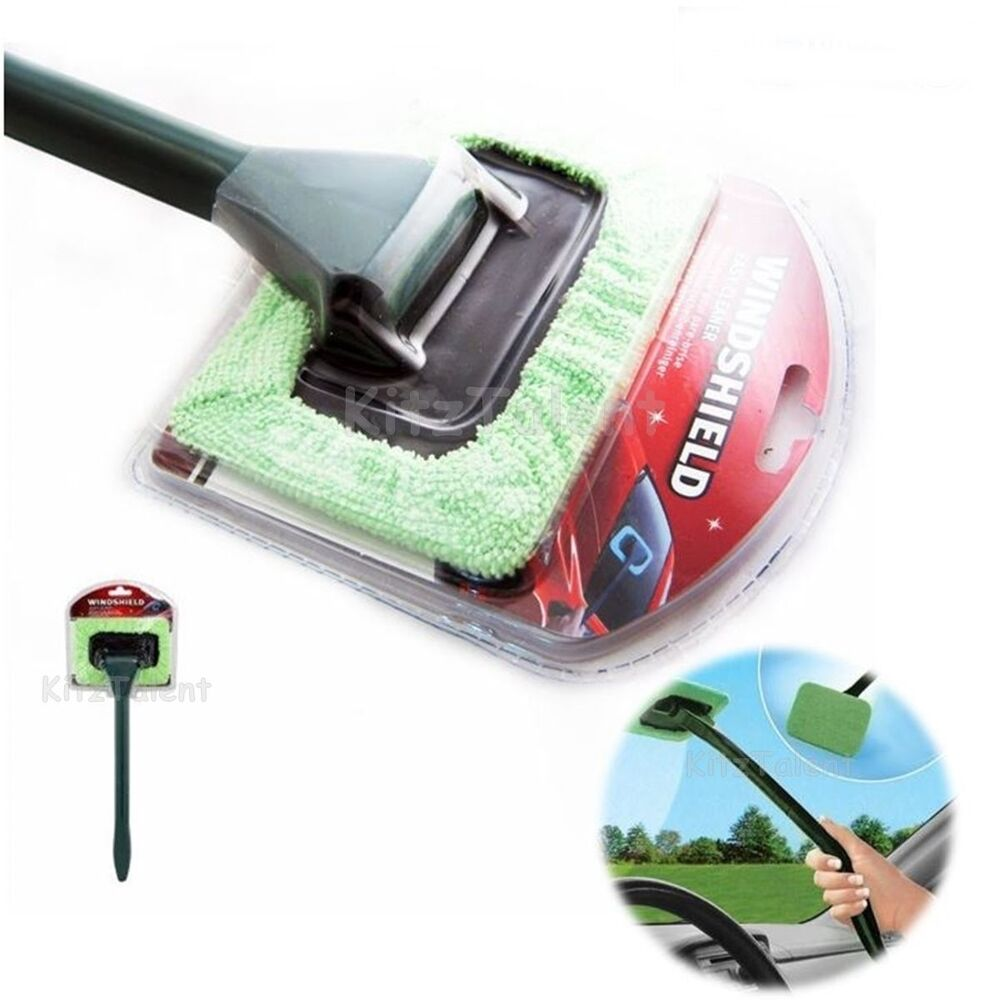 car auto glass window cleaning cleaner interior wiper handy brush windshield new ebay. Black Bedroom Furniture Sets. Home Design Ideas