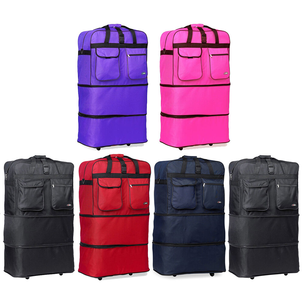pack of 4 expand rolling wheeled duffel bag spinner. Black Bedroom Furniture Sets. Home Design Ideas