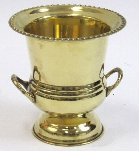 Solid brass decorative cup urn vase ice bucket wine cooler for Decor wine cooler