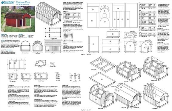 36 Quot X 60 Quot Porch Barn Roof Style Dog House Plans 90305b