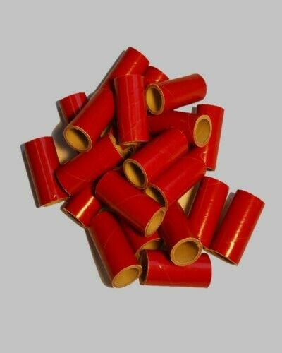 25 new fireworks kraft gloss red pyro tubes m80 9 16 x 1 for Kraft paper craft tubes