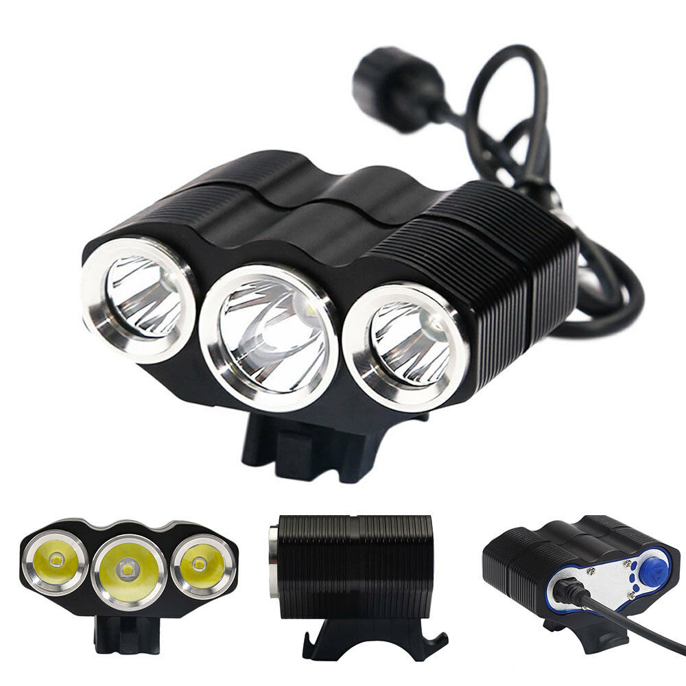 high power led fahrradlampe 3x cree xm l scheinwerfer licht fahrradbeleuchtung ebay. Black Bedroom Furniture Sets. Home Design Ideas