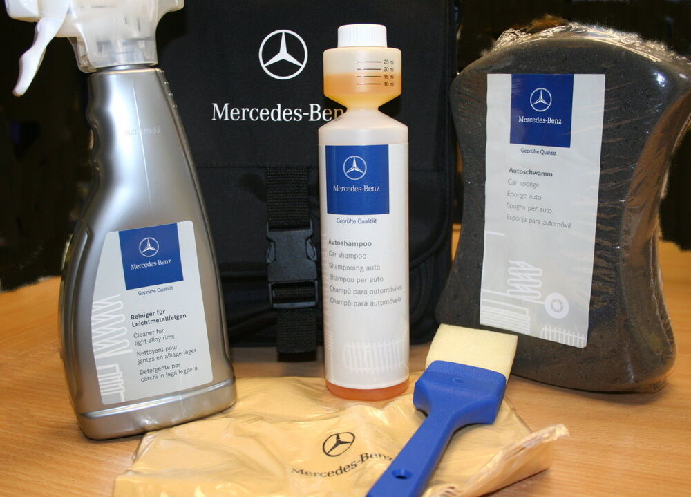 Genuine mercedes benz exterior car care set kit bag for Mercedes benz exterior car care kit