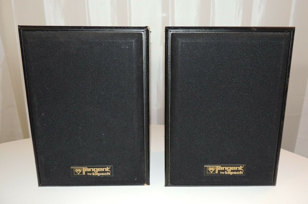 vintage klipsch bookshelf speakers. pair of tangent by klipsch model t-1000 2 way bookshelf speakers t1000 black | ebay vintage j