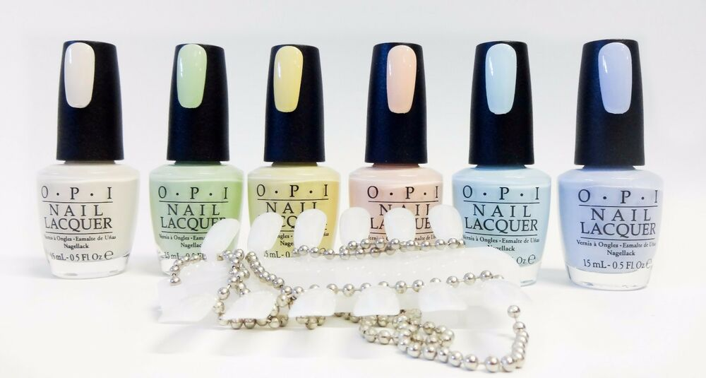 Opi Nail Polish Color Pastel Collection T71 To T76 6ct 1 Color Palette Ebay