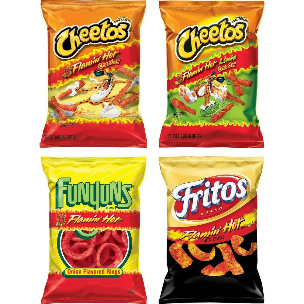 Frito lay flamin hot potato chips variety pack ct
