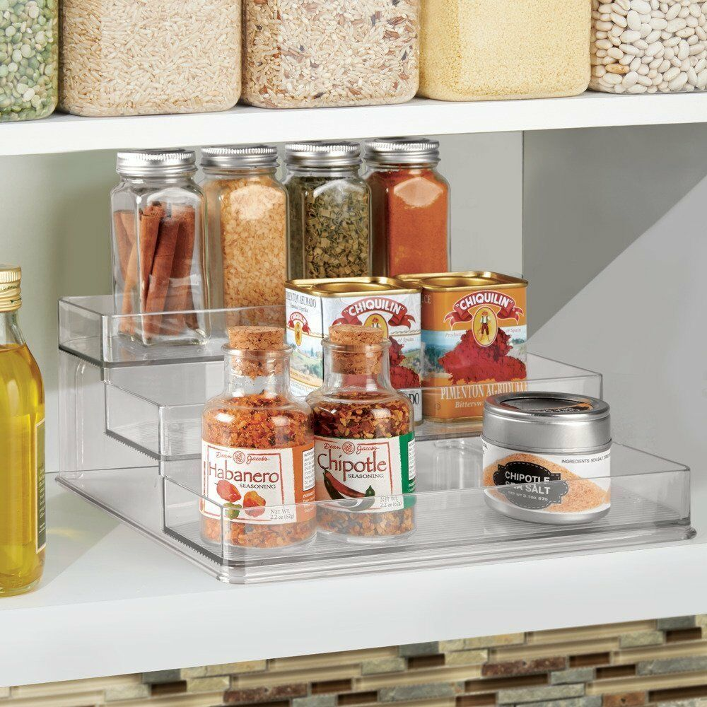 Kitchen Cabinet Spice Rack Organizer: Kitchen Cabinet Spice Jar Rack Organizer 3 Tier Shelf