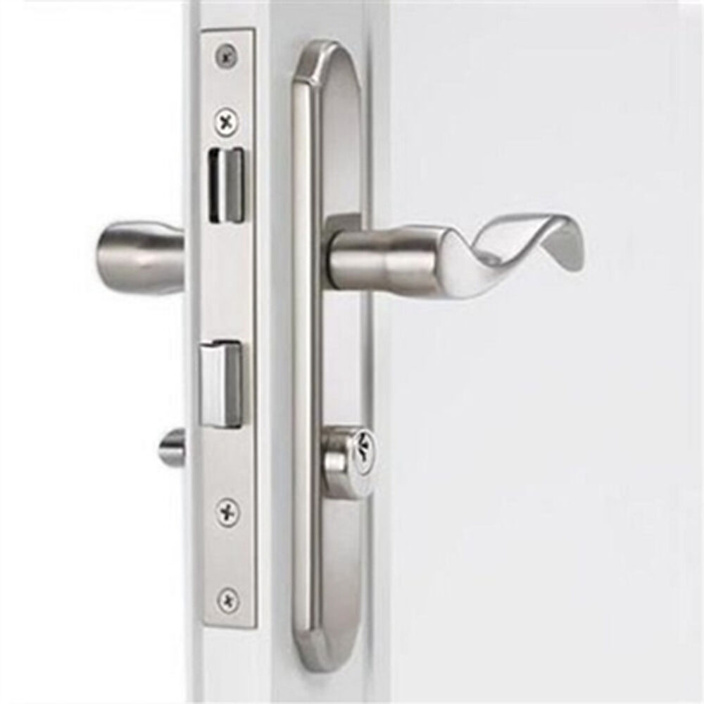 Storm Door Mortise Handle Satin Nickel Finish For 1 1 8