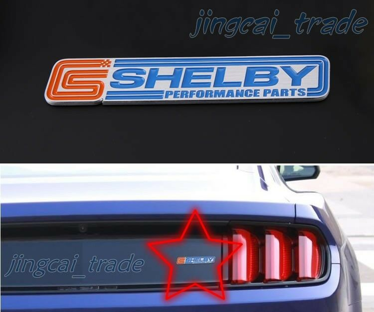Shelby Performance Parts 3d Thick Aluminium Car Auto Decal
